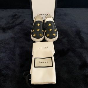 Gucci Girl's Leather Sneakers Toddler Sz 9US(25EU)